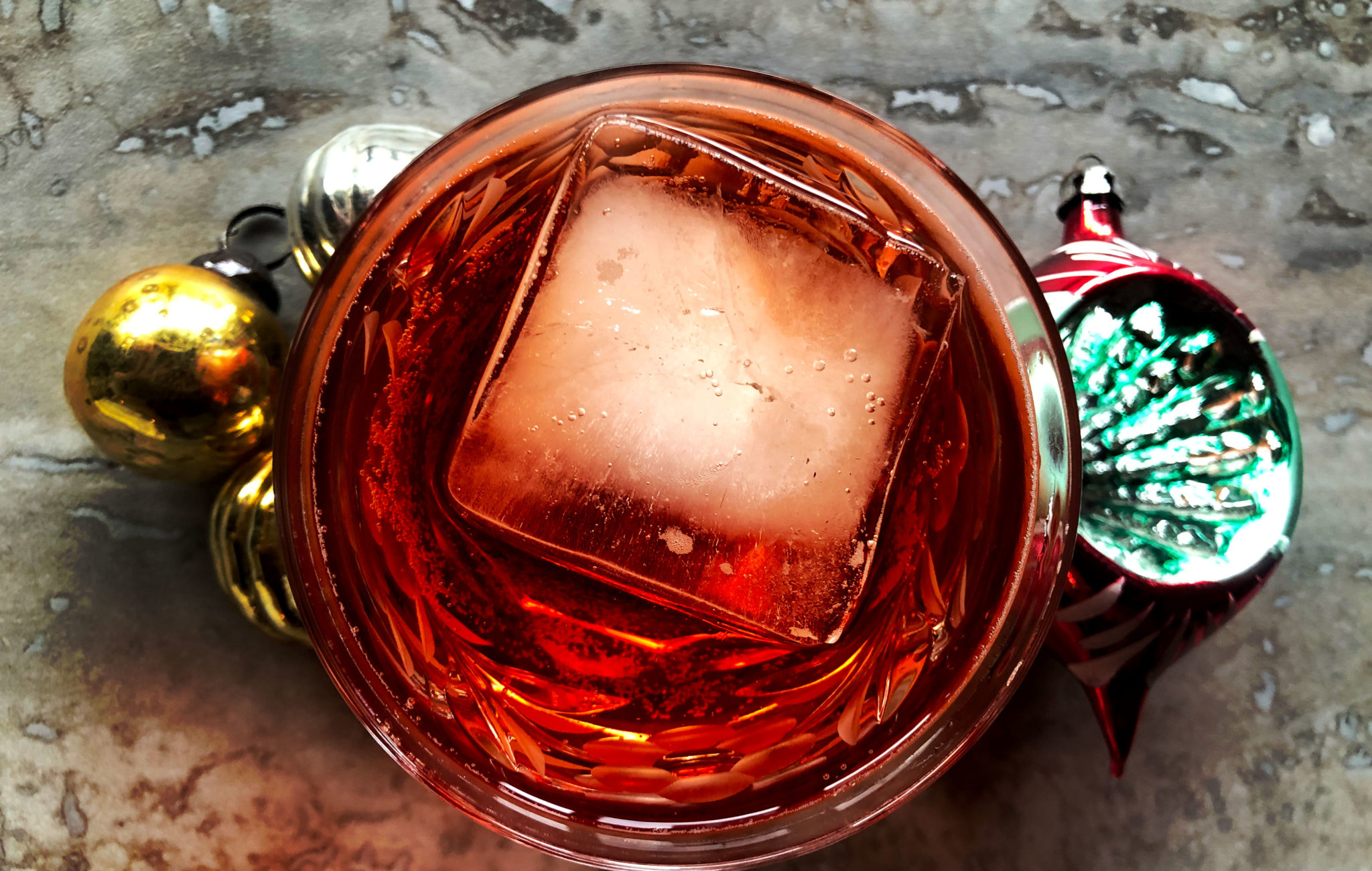 Americano High Ball cocktail with ornaments