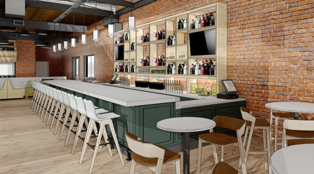 Render of Parlor Bar