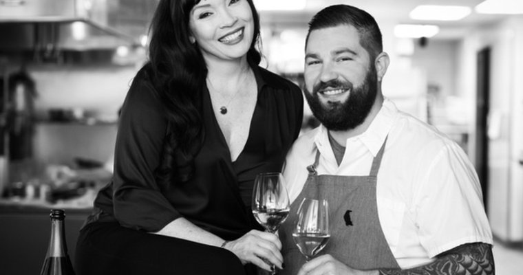 Chef Michael Corvino and his wife and business partner, Christina